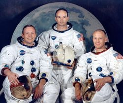 The Apollo 11 crew:Neil Armstrong, Michael Collins, and Buzz Aldrin.