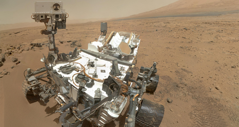 Self Portrait by Curiosity on Mars